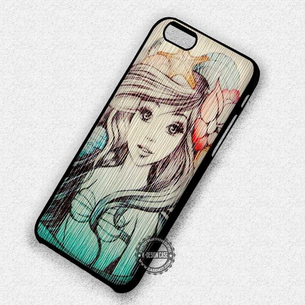 Siren Wood Craft Ariel Little Mermaid - iPhone 7 6 5 SE Cases & Covers #cartoon #TheLittleMermaid