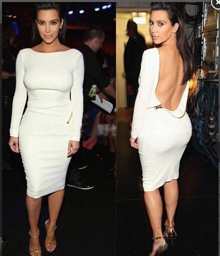 Super sexy backless long sleeve skirt zx1014cc