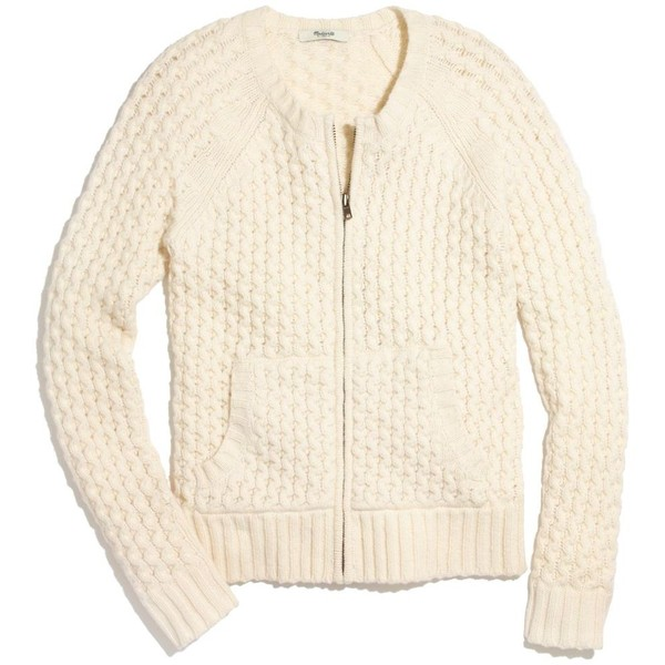 MADEWELL Honeycomb Sweater-Coat - Polyvore