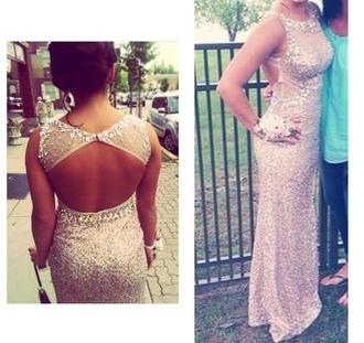 dress prom dress sparkle dress nude dress see through dress bedazzled dress