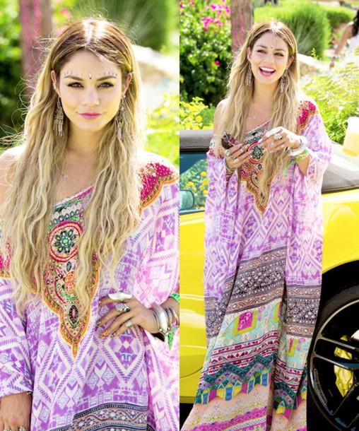 Dress Vanessa Hudgens Coachella Purple Vaness Hudgens