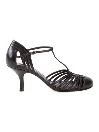 strappy women pumps black shoes