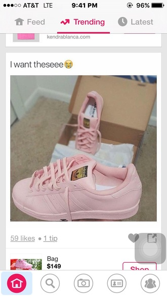 shoes adidas pink sneakers adidas superstars