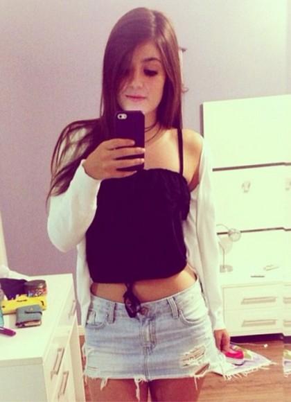 gilet top shorts noir