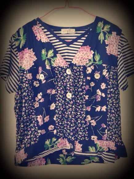 shirt striped shirt stripes blouse floral tank top black floral shirt