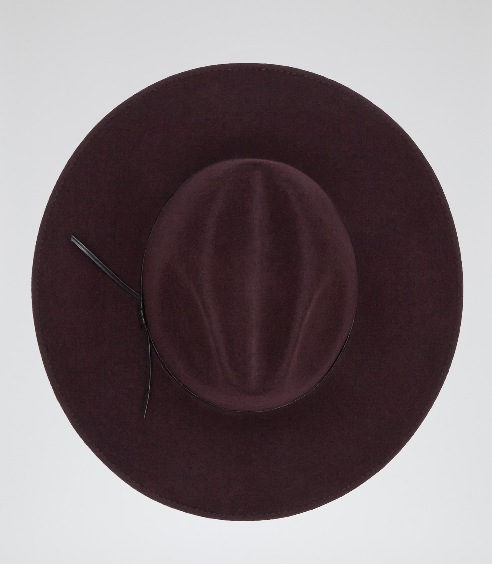 Mimi Burgundy Wide Brim Trilby Hat - REISS