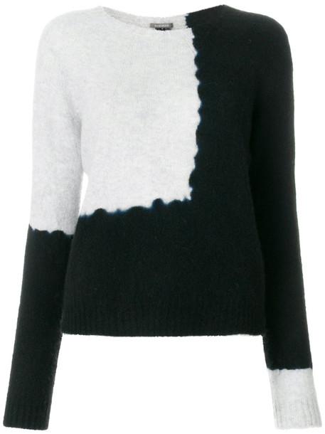 SUZUSAN jumper women tie dye black sweater