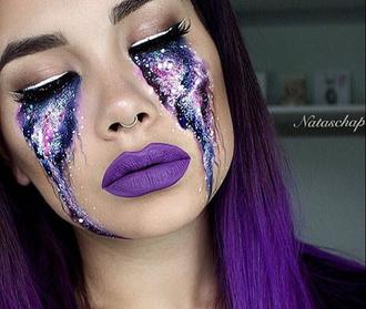 make-up galaxy print