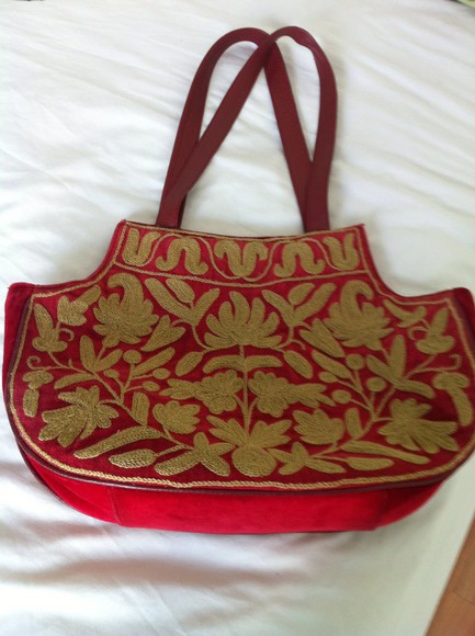 ethnic bag red bags
