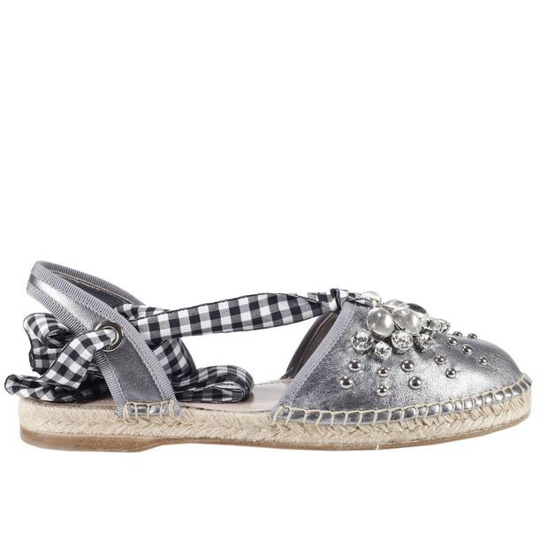 Miu Miu women shoes silver