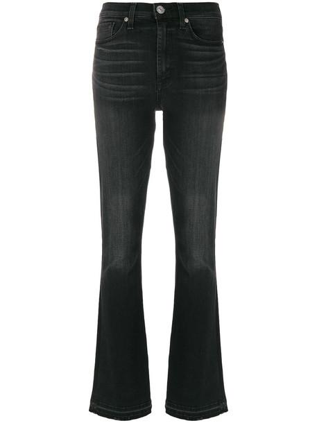 jeans high waisted high women cotton black 24