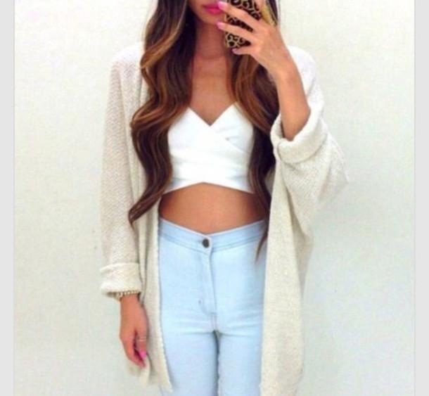 cardigan jumper winter outfits lightbrow earphones top