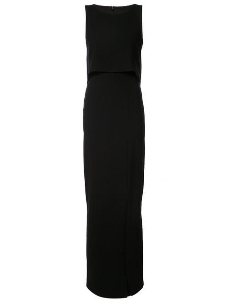 Black Halo gown women spandex fit black dress