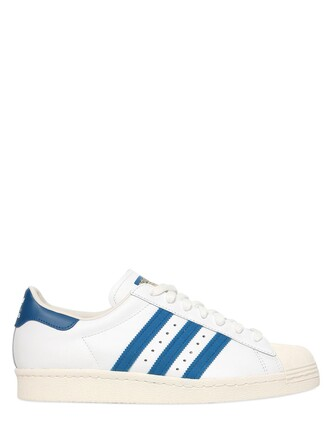 sneakers leather light white blue light blue shoes