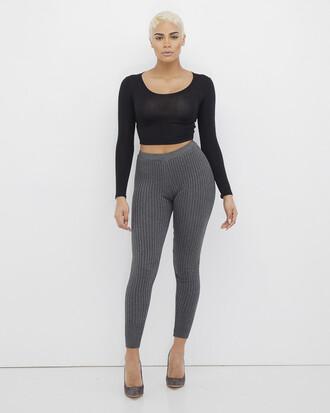 leggings grey grey leggings knit knit leggings ribbed ribbed leggings