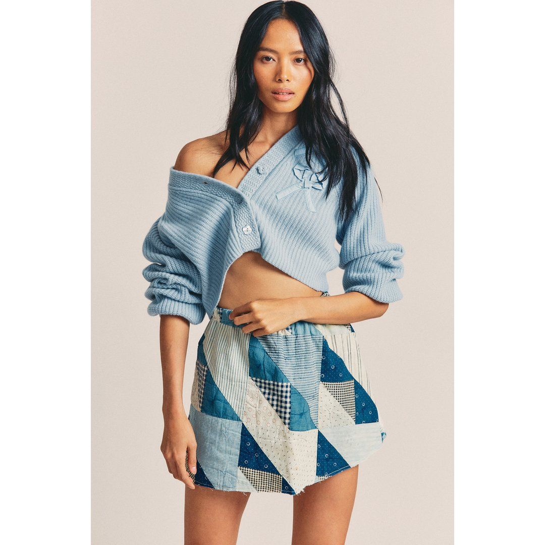 Vintage Quilted Mini Skirt