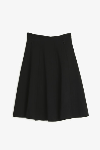 skirt circle skirt knit black
