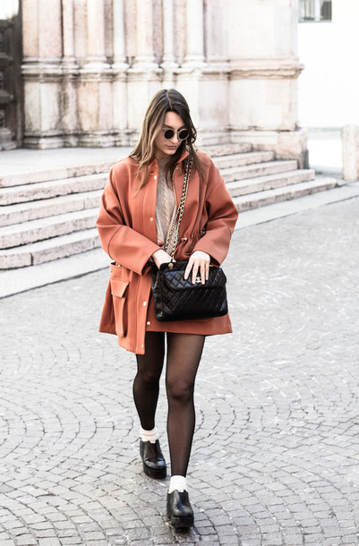 style and trouble blogger jacket bag rust oversized quilted bag