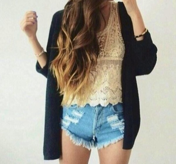 knitted top white crop tops shirt shorts