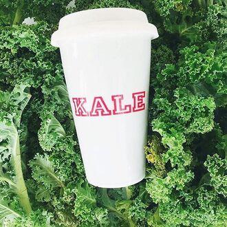 home accessory the shopping bag kale travel mug coffee