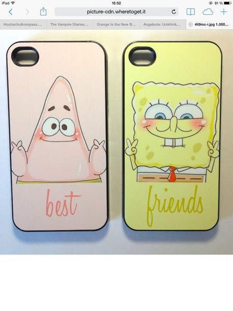 phone cover spongebob