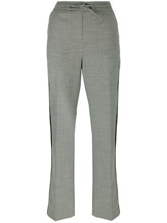 women spandex black wool pattern houndstooth pants