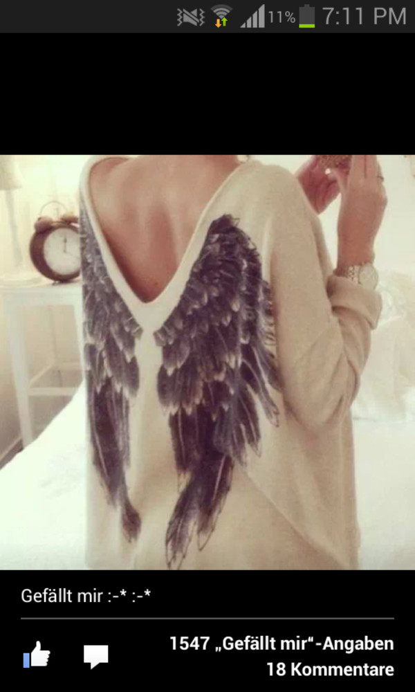 sweater angel angel wings wings