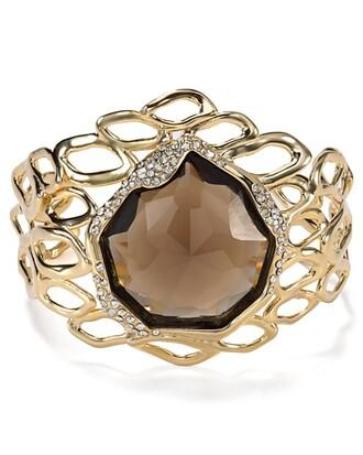 jewels alexis bittar aiguille cuff cuff quartz/swarovski crystal/gold-tone plated metal swarovski