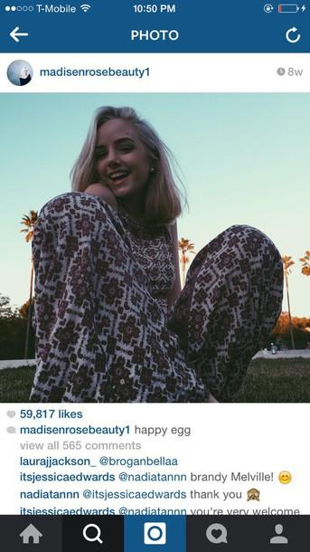 pants indie boho pattern top