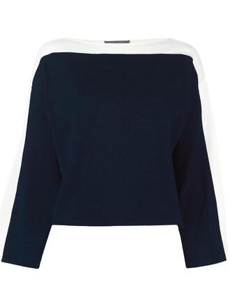 jumper women cotton blue sweater