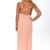 Riffraff | knot back long dress - blush
