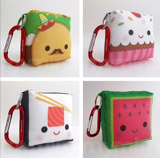 bag kawaii kawaii accessory watermelon print sushi cupcake