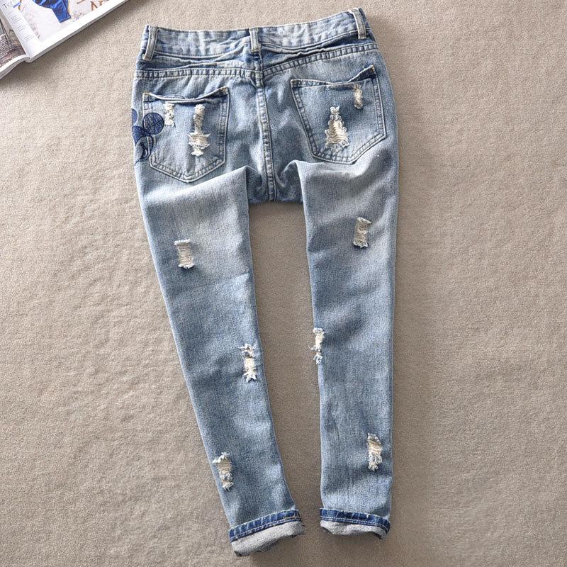 Jeans nouvelle marque 2014 vintage. filles. jeans jeans femme pantalon pour les femmes en vrac déchirés. dans de sur Aliexpress.com