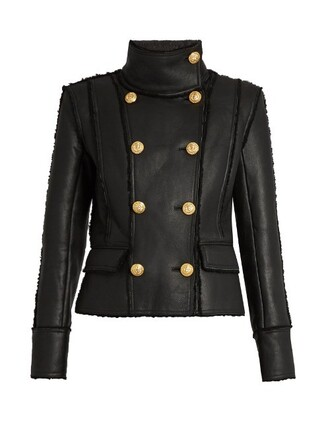 jacket shearling jacket black
