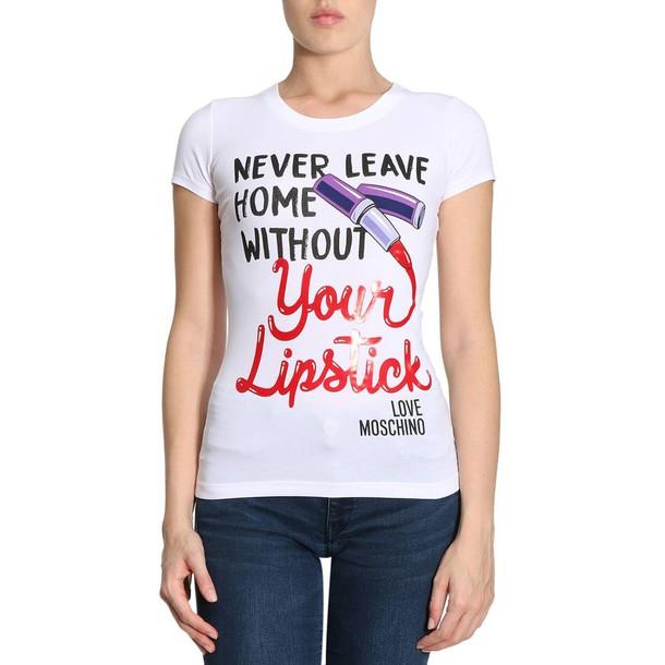 LOVE MOSCHINO t-shirt shirt t-shirt women love white top