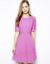 dress,whistles linn lace dress,lace dress,pink dress,mini dress