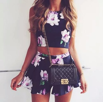 dress floral dress flowers floral cute dress