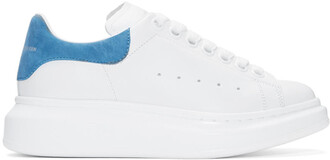 oversized sneakers white blue shoes