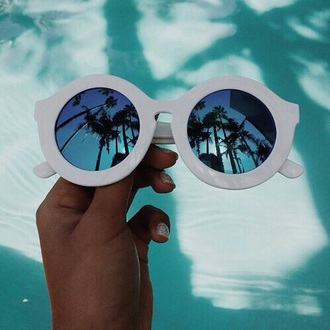 sunglasses white blue ineed round chanel anyprice blueglass