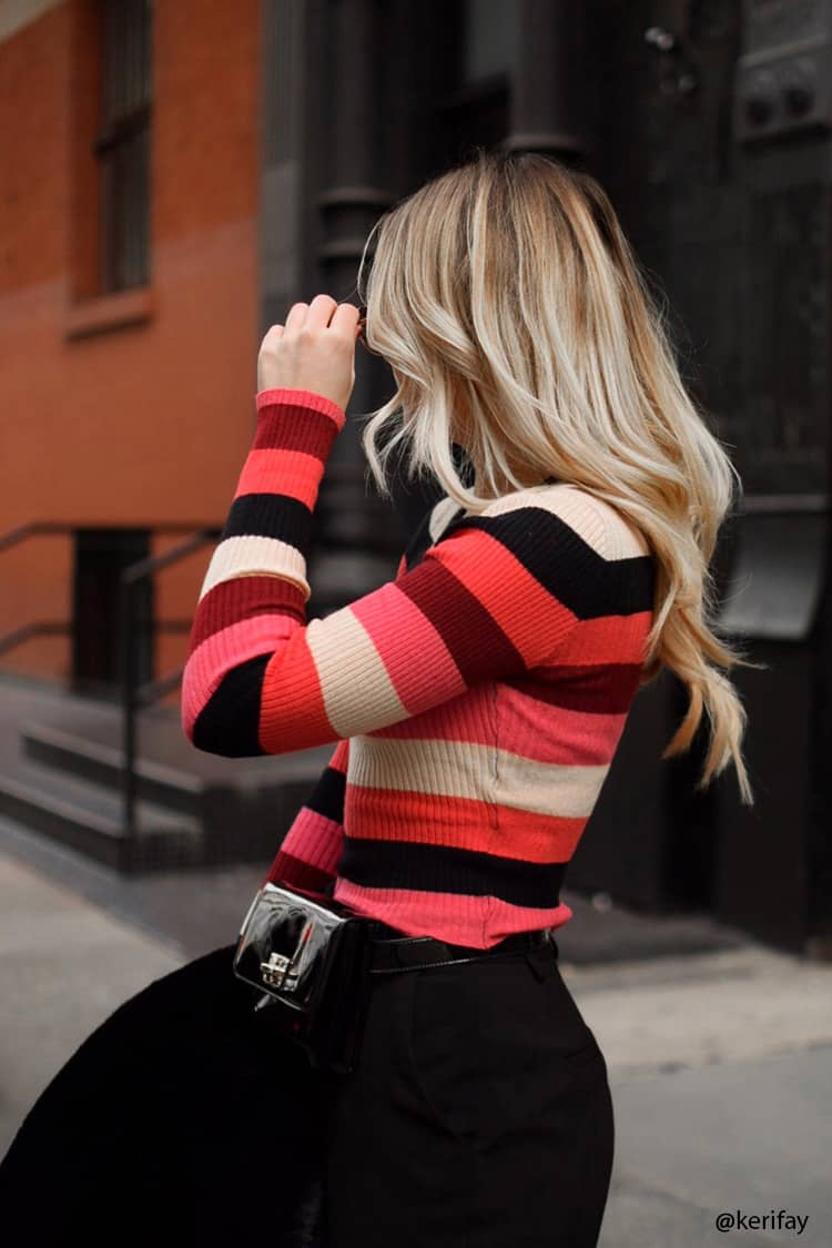 Cropped Stripe Sweater