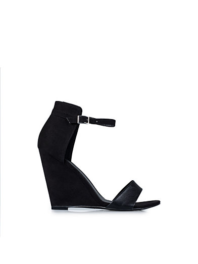 Ankle Strap Wedge Sandal - Nly Shoes - Sort - Festsko - Sko - Kvinde - Nelly.com