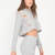 Shred-y Or Not Cropped Hoodie Top HGREY OATMEAL BLACK OLIVE MAUVE - GoJane.com