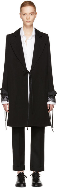coat black wool