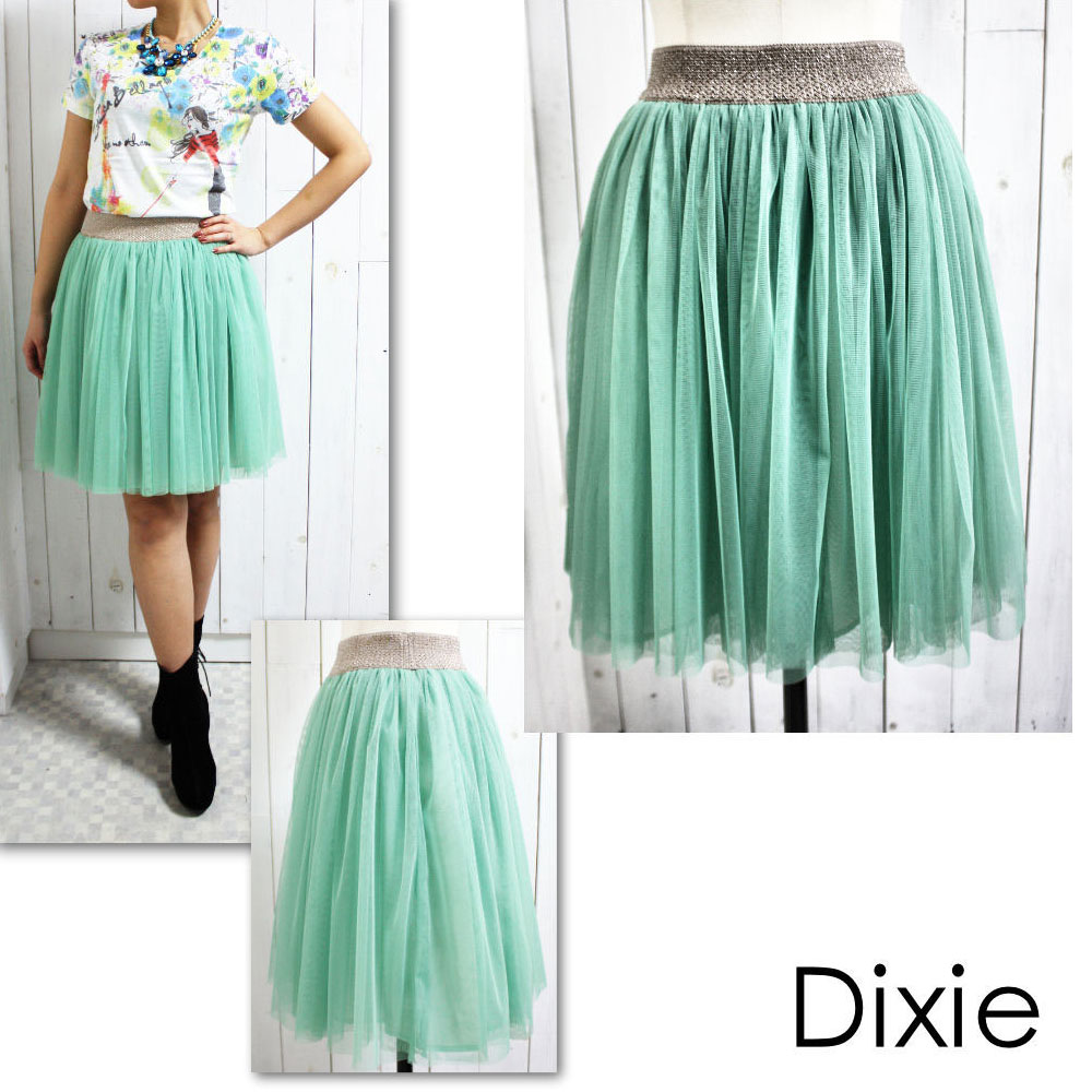 EVER.MALL: Cute adult westgomuthiewl knee-length skirt (ladiesbolium flared skirt, women's knee on a tulle skirt, MIME-length, color, pastel, chiffon) act anca / Act ANCA | Rakuten Global Market