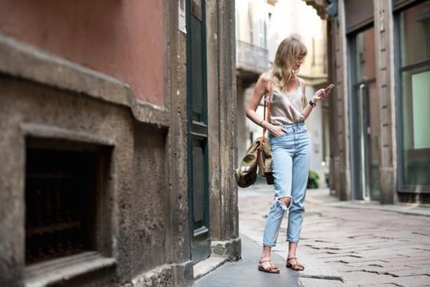 anastasiia masiutkina blogger jacket bag jeans top shoes