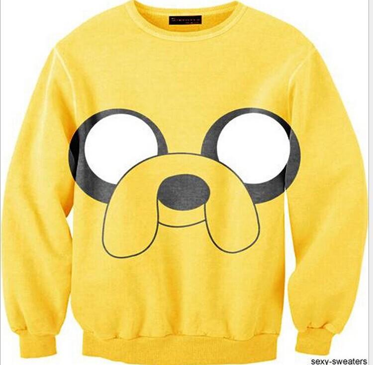 2014 Harajuku 3D Jake The Dog Print Women Sweatshirt Funny ...