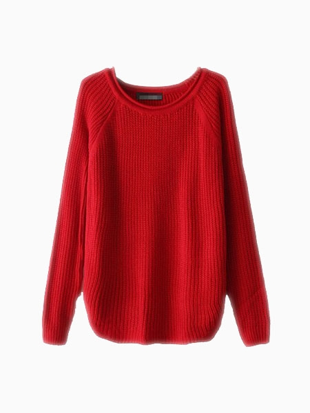 Red Basic Sweater | Choies