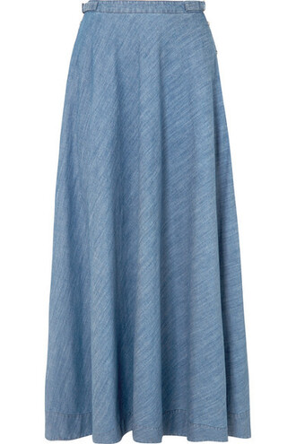 skirt maxi skirt denim maxi cotton