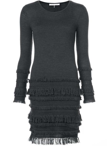 dress women knit grey