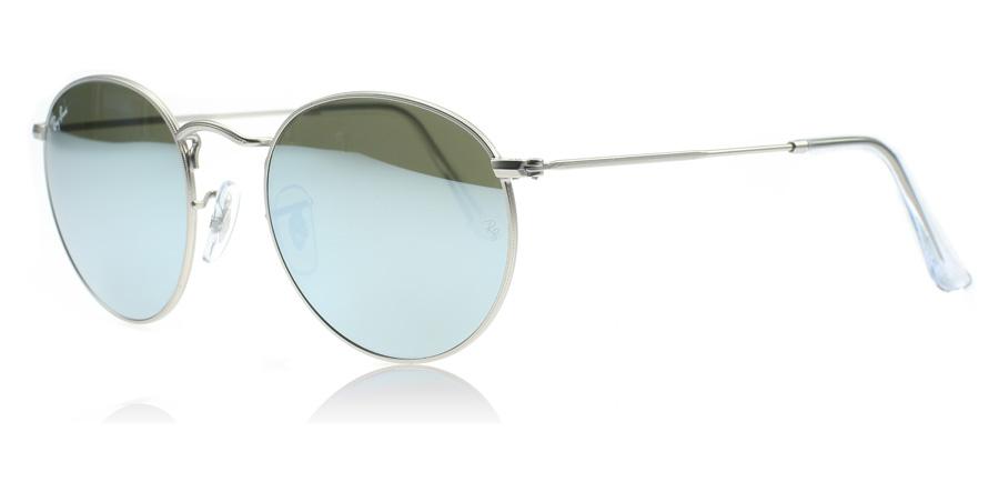 ray ban round metal sunglasses uk  ray ban 3447 round metal sunglasses : 3447 round metal matte silver 019/30 : uk